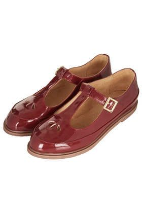 MARTIE Leather T Bar Geek Shoes