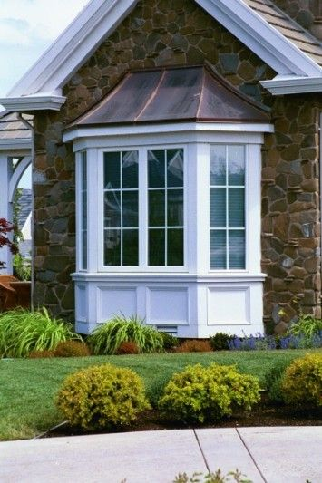 via @rachelacoleman on Pinterest - Bay windows project out from the exterior wall to form an alcove with glass on three sides. The structure supports itself by forming its own anchor to the ground. Move in a table to create a sunny breakfast nook, or add a built in bench and you've got a window seat!