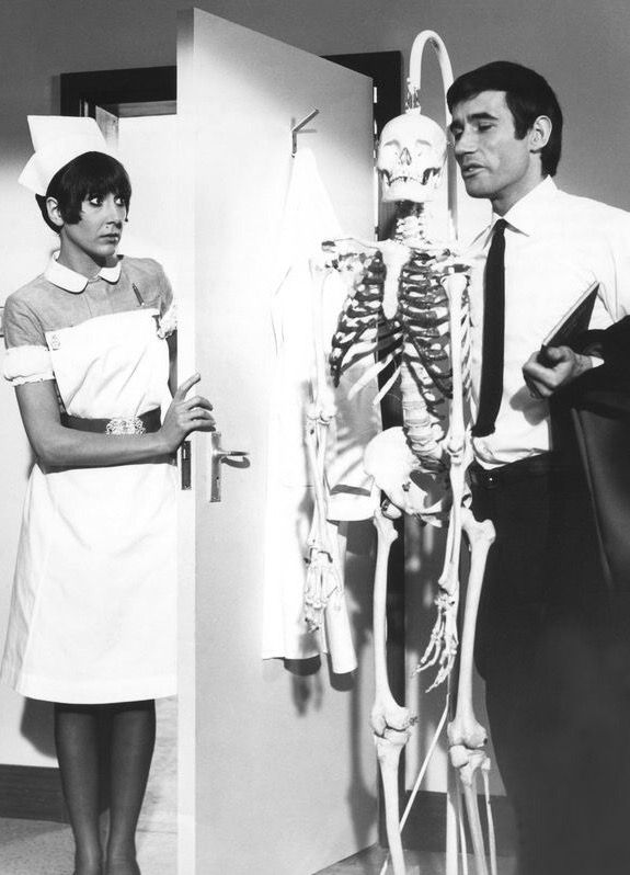 Anita Harris and Jim Dale, Carry On Doctor.