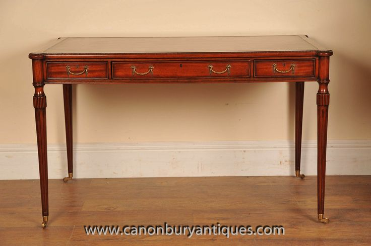http://canonburyantiques.com/s/desks/victorian-desks/1/  Victorian desk in the Gillows form. Gillows were famous furniture makers from Lancaster in England famous for their clean and symmetrical designs. Great for a modern interiors. Large range of other Victorian desks available...