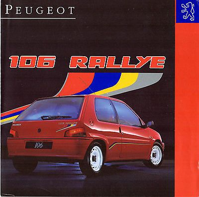 Peugeot 106 1.3i rallye #1993-94 uk market #sales #brochure,  View more on the LINK: 	http://www.zeppy.io/product/gb/2/171932851056/