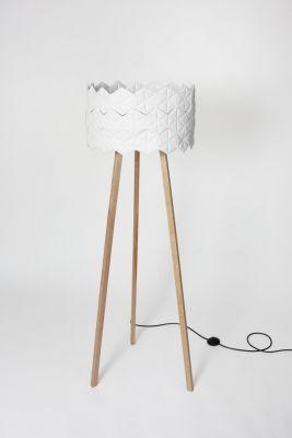 kukka/03 — lampa stojąca, abażur biały // NIE/BO Design