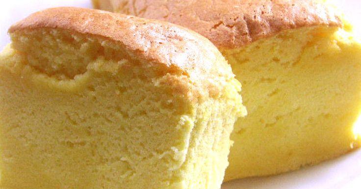 簡単バター不要のもっちり、しっとりしたシンプルパウンド♪ダイエット中でも甘い小麦粉系を食べたいアナタにお勧めです♪