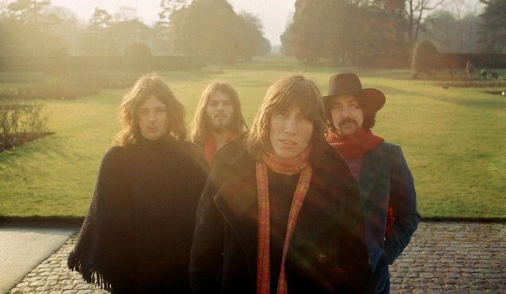 Pink Floyd at Kew Gardens in 1969, © Storm Thorgerson/Hipgnosis