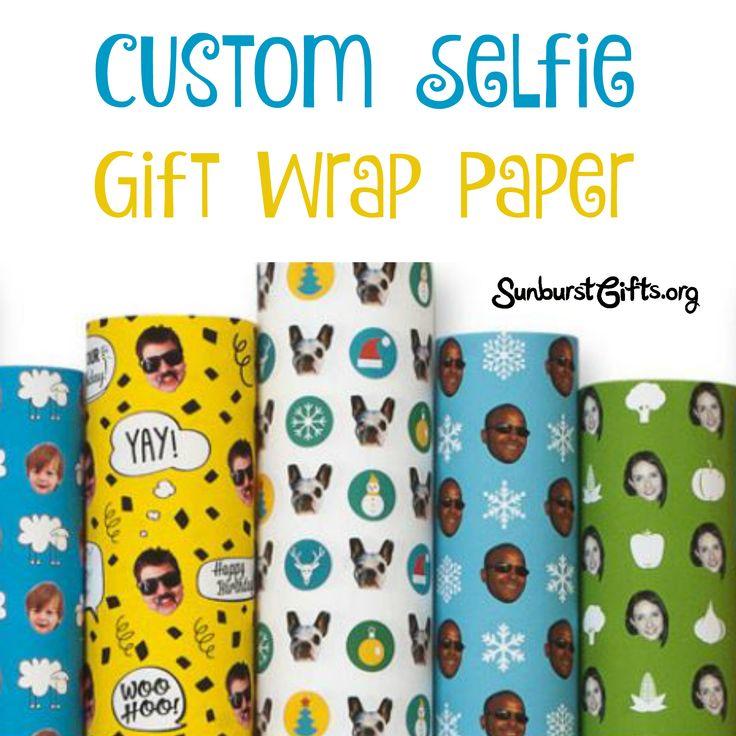 Custom Selfie Gift Wrap Paper