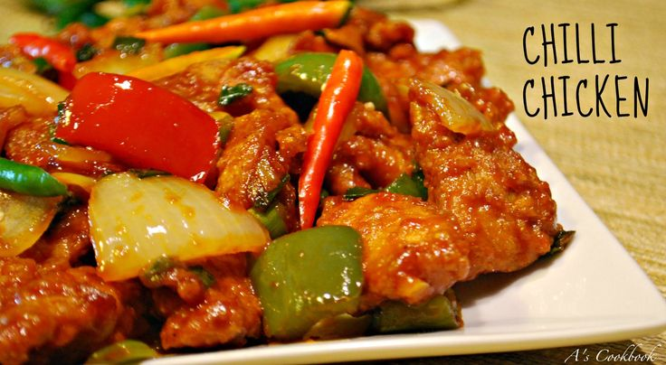 Easy, Simple and Delicious Chilli Chicken Recipe. Ingredients: 1 lb Chicken Breast or Thigh - Cut into bite size pieces 1/4 Tsp Salt 1/4 Tsp Black Pepper Pow...