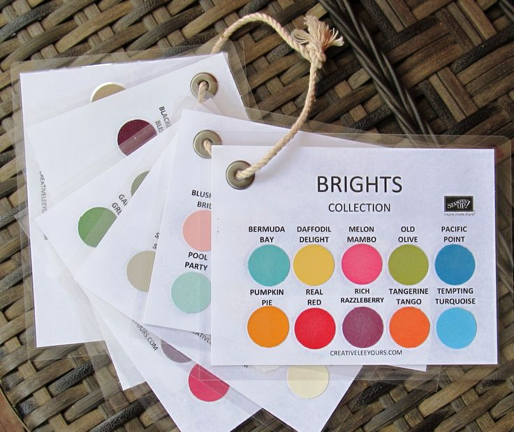 Keep all of the Stampin' Up! colors at your fingertips with these handy color charts. Create your own set of color charts: Just print both pages of the PDF file I created for you using MDS.&nb...