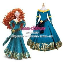 Costumes Costume Brave Merida Princess Dress adultes de l\u0027arrivée de  nouveaux Deluxe femmes Halloween