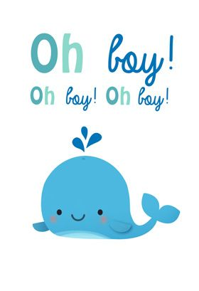 """Oh boy"" printable card. Customize, add text and photos. print for free!"