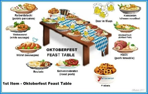 September World Holidays: Oktoberfest decoration & foods. Oddly, perhaps, Octobe…