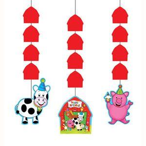 53 - Barnyard Bash Hanging Cut - Outs. Pack of 3 Barnyard Bash Hanging Cutouts - Pack of 3