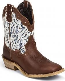 Justin Gypsy Vintage Lace Cowgirl Boots - Square Toe