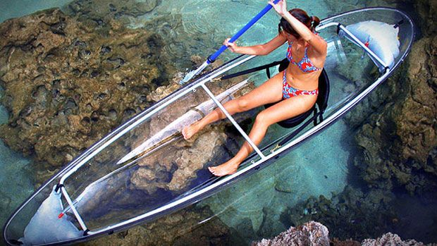 Transparent Canoe #gadget