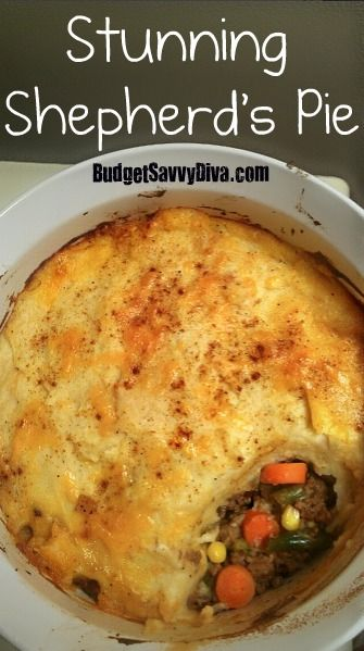 Shepherds Pie ~ Well, I was supposed to make this tonight ... and I fully intended to ... and then my bed attacked me and held me hostage for a good two hours ... so I woke up to smell this amazingness Mum had made so I could keep sleeping. :) In a nutshell, Dad took three helpings, so it's good.