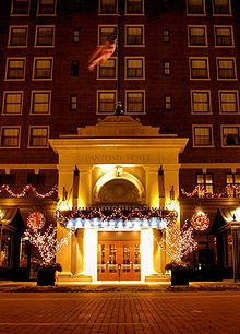 Amway Grand Plaza Hotel for dinner at 1913 Room, Michigan's only AAA Five Diamond Award restaurant, Grand Rapids, Michigan