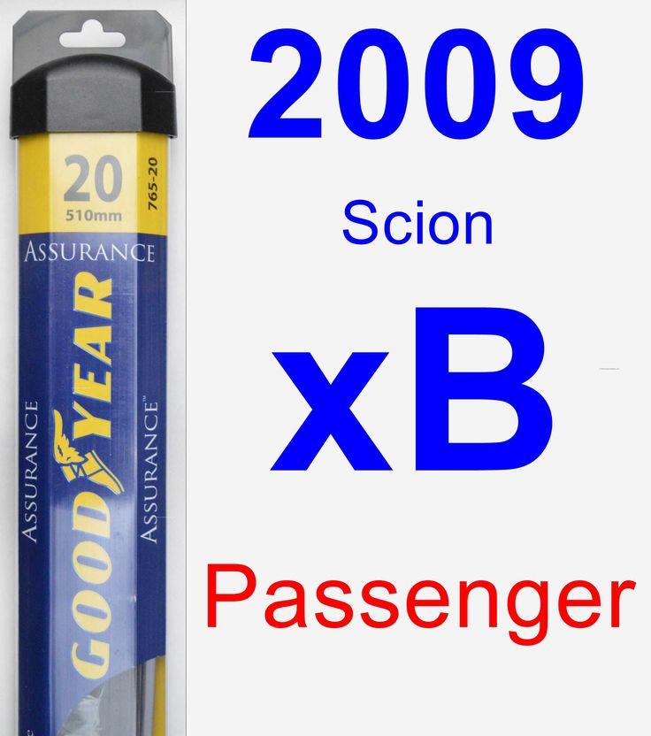 Passenger Wiper Blade for 2009 Scion xB - Assurance