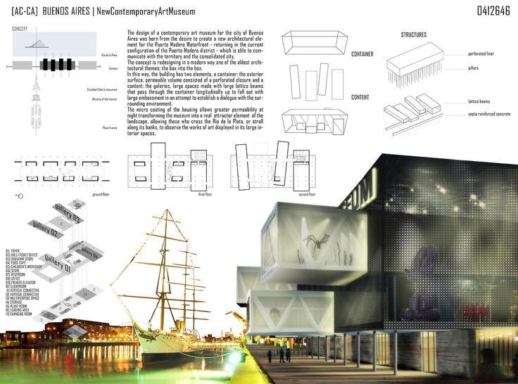 New Contemporary Art Museum to Buenos Aires - [AC-CA] |2012 by Matteo Nativo and Maurizio Liccardo www.facebook.com/MatteoNativoDesign www.pinterest.com/matteonativo  #architecturalcontest #architecture #contest #design #matteonativo #museum #art #buenosaires #AC-CA