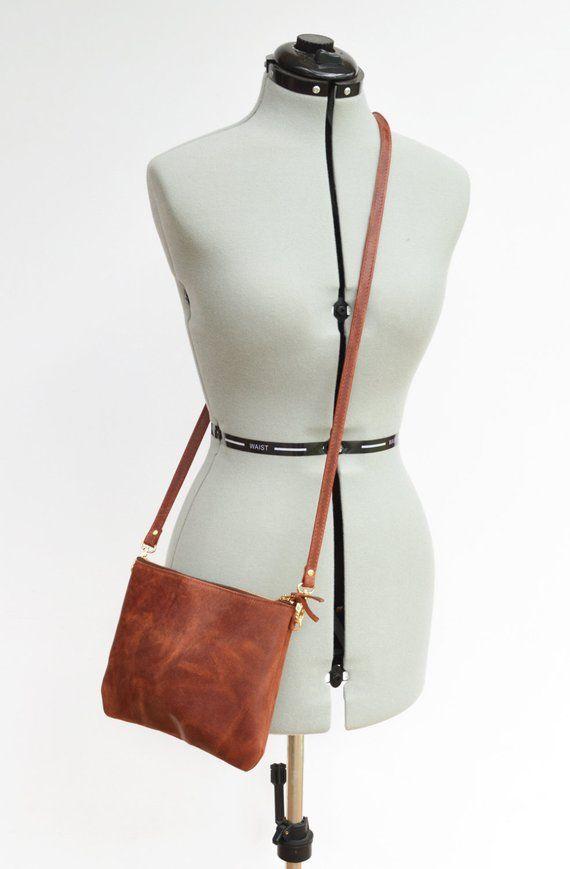 87124f968 Black Leather Crossbody Bag. A Minimalist Leather Purse That Can ...