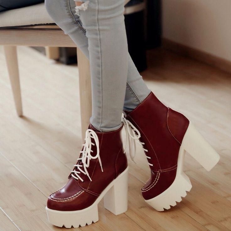 4 цветов женщина весна осень зима 2016 высокое качество узелок короткие сапоги с устойчивый супер-высокие каблуки ботильоны туфли на платформе