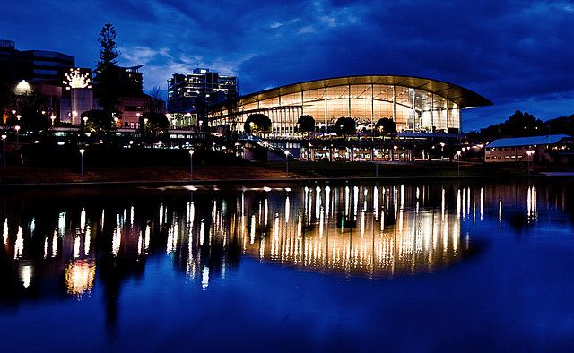river torrens, adelaide #australia #night #reflections