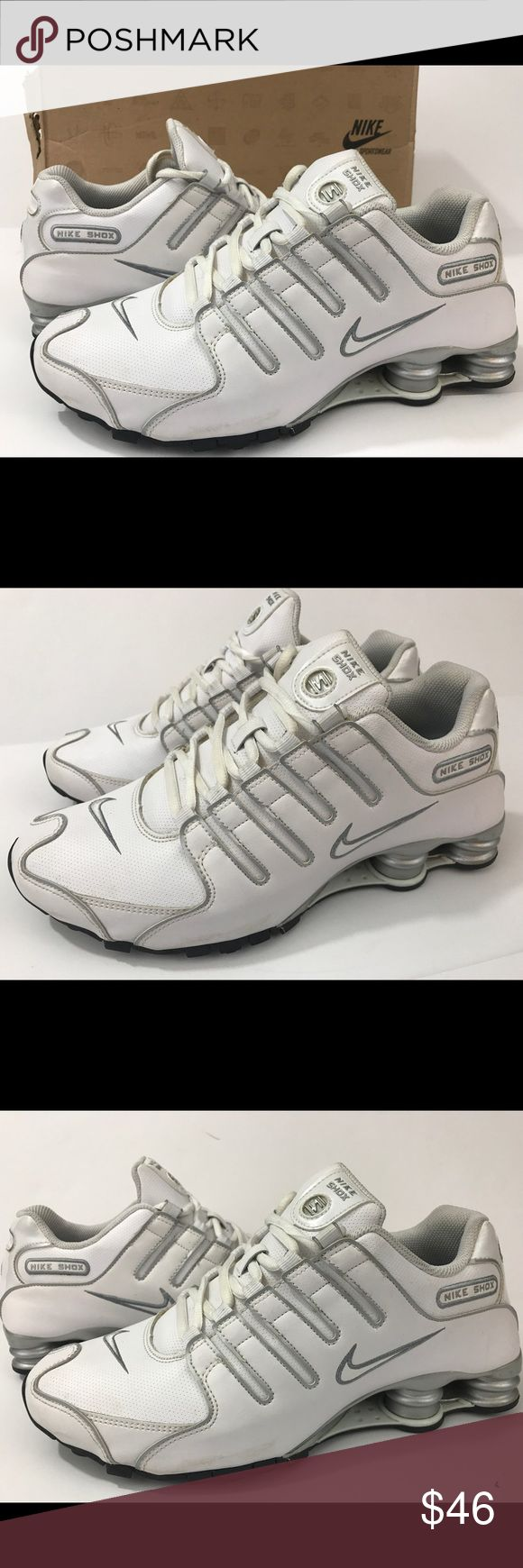 Nike Shox NZ running walking shoe size 8 men's Nike shox NZ White/silver Size 8  Great Cool condition with BOX Shipped double boxed for protection!  See all photos please. Nike Shoes Athletic Shoes