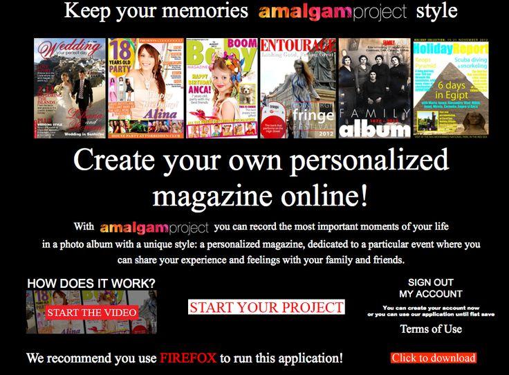 Amalgam Project App - #HomePage