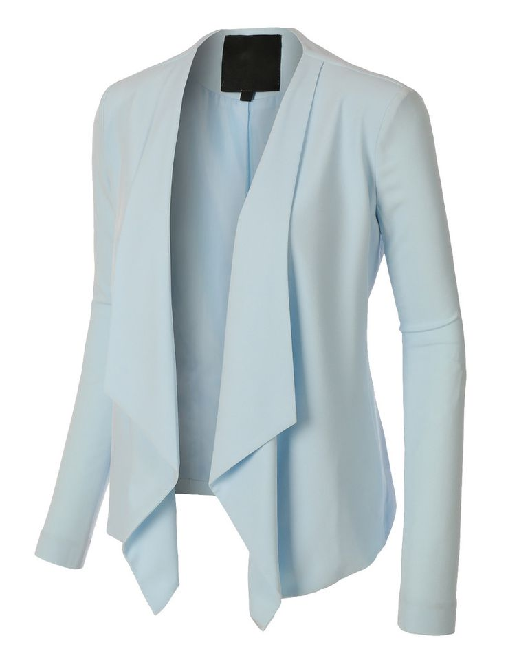LE3NO Womens Open Front Draped Long Sleeve Blazer Jacket
