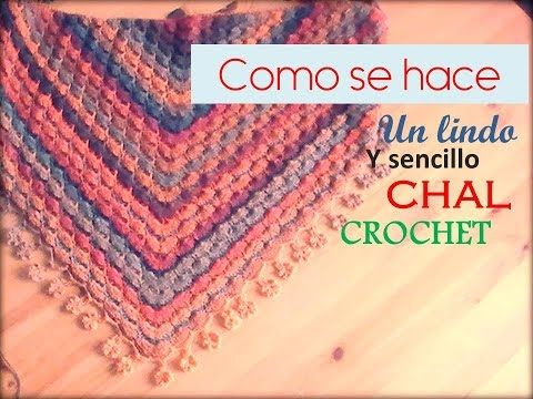 Chal media luna con flores mollie a crochet - Mollie flower crescent moon shawl (English subtitles)! - YouTube