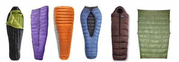 different lightweight sleeping bag designs