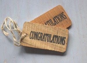 label congratulations