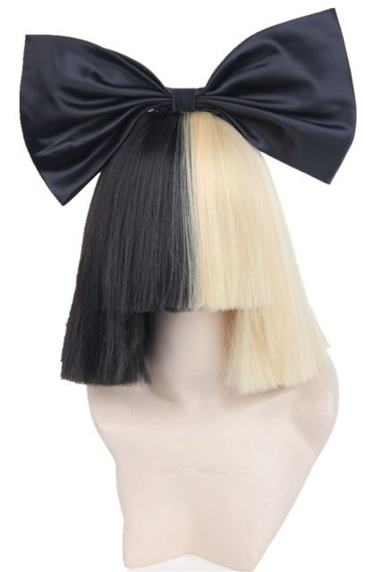 Women's Wigs Short Half Blonde and Black Straight Cosplay for Sia in Health…