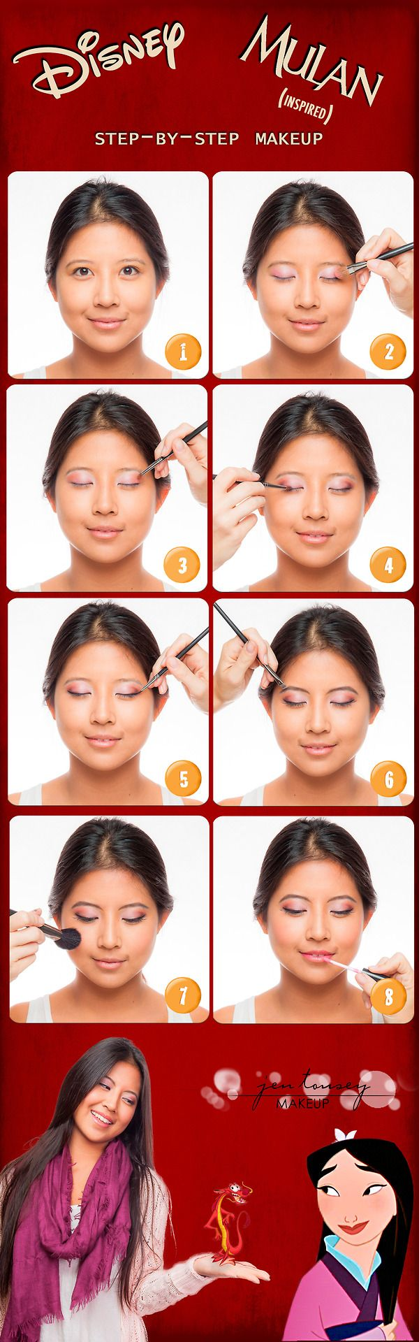 #disneyside #jentouseymakeup #mulan #mushu #beautifullydisney #diy #makeup