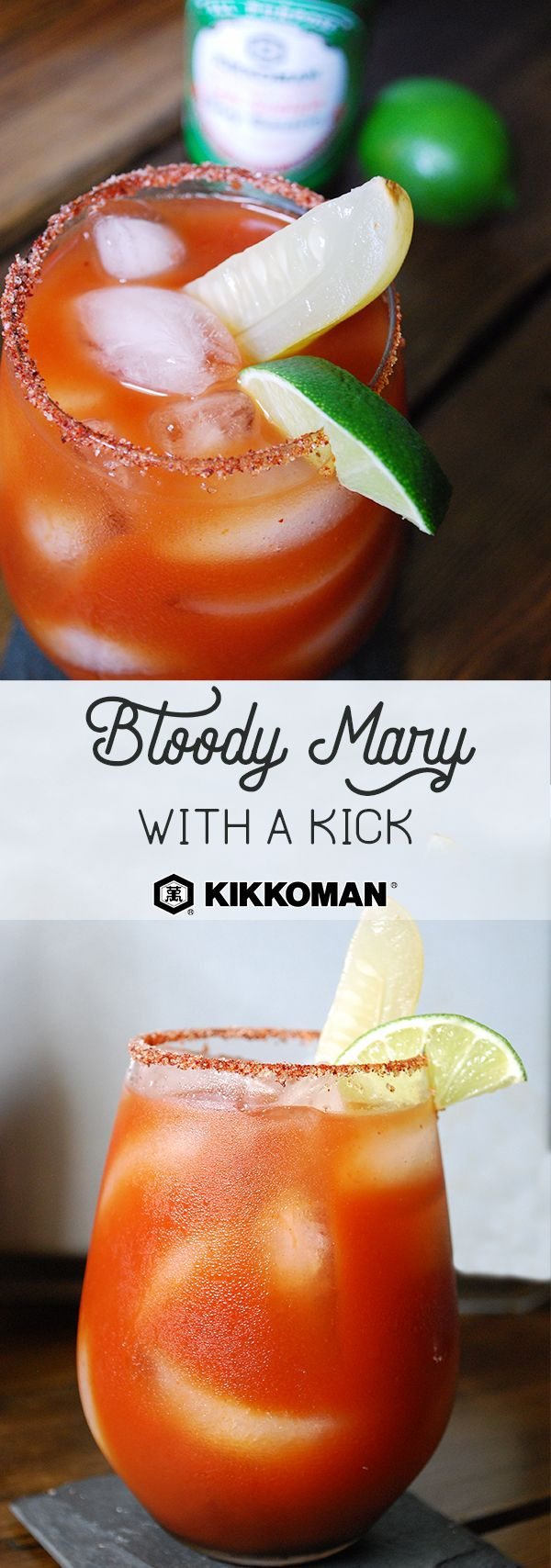 Bloody Mary with a Kick | Some mornings need a kick in the pants and this savoury cocktail should do the trick. Bring some heat to a classic Bloody Mary by adding Kikkoman®️ Sriracha Hot Chili Sauce. A splash of Kikkoman®️ Soy Sauce brings a touch of umami flavor. The perfect pairing for a Sunday brunch. | #Kikkoman #breakfast #breakfastgoals #breakfastlover #breakfastofchampions #breakfasttime #brunch #brunchclub #easyrecipes #quickandeasy #Sriracha #cocktail #bloodymary