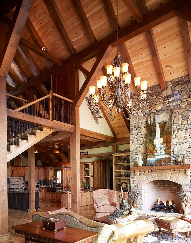 17 best images about house ideas living areas on for Timber frame great room