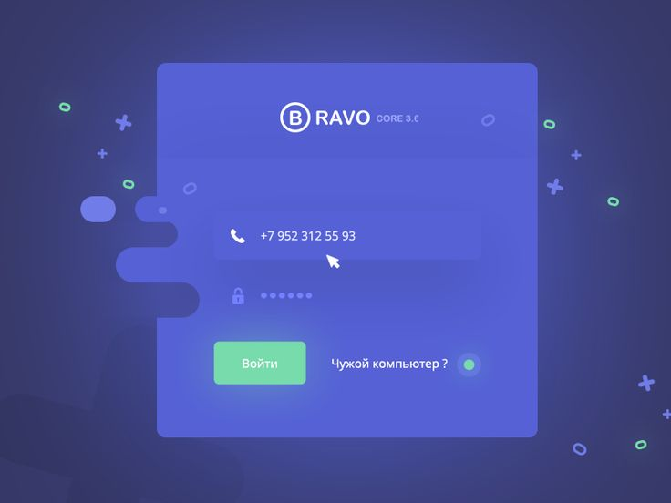 Bravo core Sign in page by patrickreza