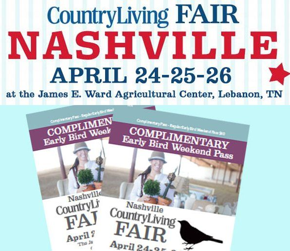 Grand Prize is a $3,137.00 2-night trip for two to attend the Nashville Country Living Fair in Nashville, TN on April 21-23, 2017. Will you enter?    Included are accommodations at the Hutton Hotel, two tickets to Thomas Rhett's show at the Ascend...
