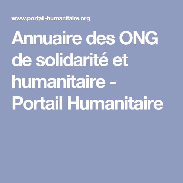 Annuaire des ONG de solidarité et humanitaire - Portail Humanitaire