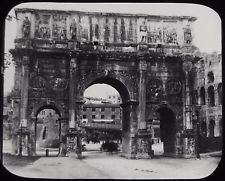 Glass Magic Lantern Slide ARCH OF CONSTANTINE C1900 ROME ROMA PHOTO ITALY
