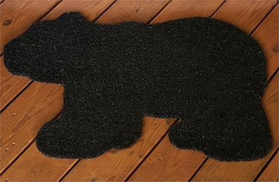 The Black Bear Coir Doormat is an adorable rustic accent that will add a rugged touch of woodland charm to your log home or Northwoods cabin.