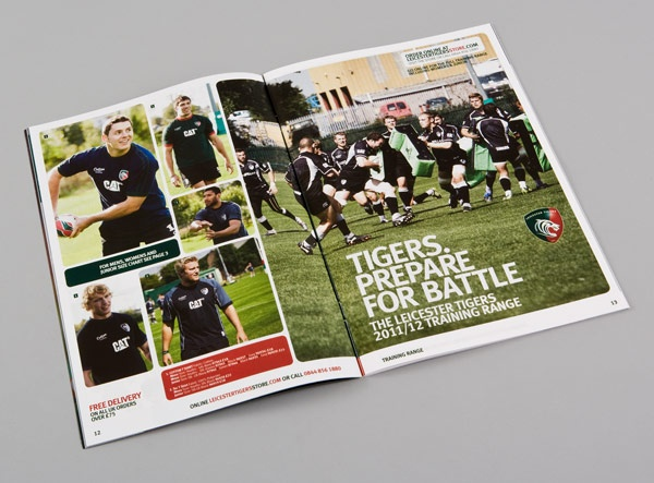 Creative catalogue design and production of football club official - sports brochure
