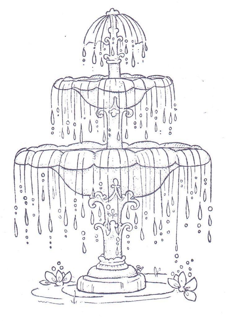 Water Fountain Coloring Pages