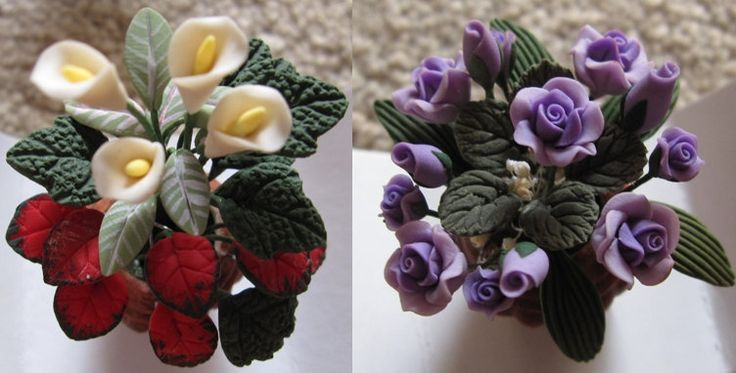 Ceramic flowers pots miniatures by Aliki01 on Etsy