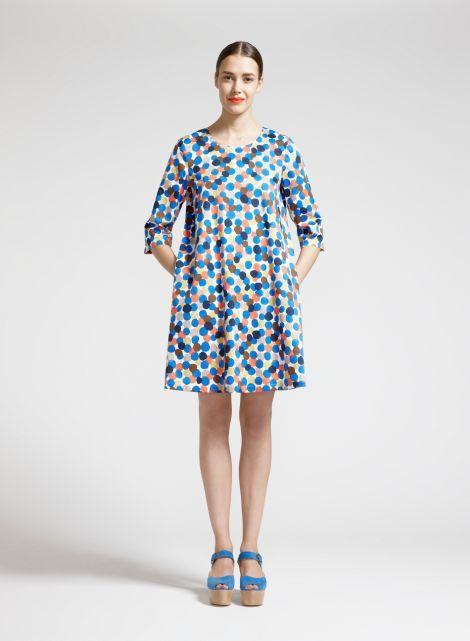Aadi 1-mekko (sininen, persikka, ruskea)  Vaatteet, Naiset, Mekot ja hameet   Marimekko