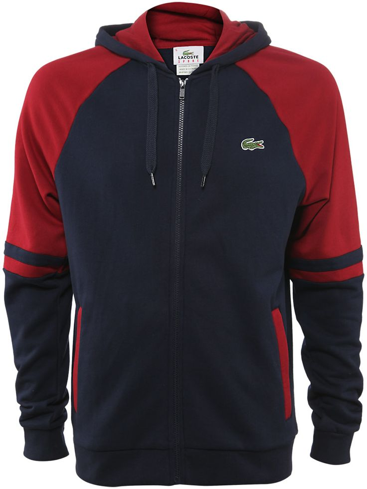 #Lacoste Men's Fall Colorblock Sweatshirt in Navy