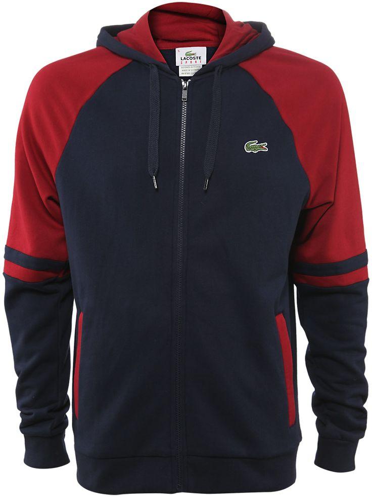 #Lacoste Men's Fall Colorblock Sweatshirt in Navy
