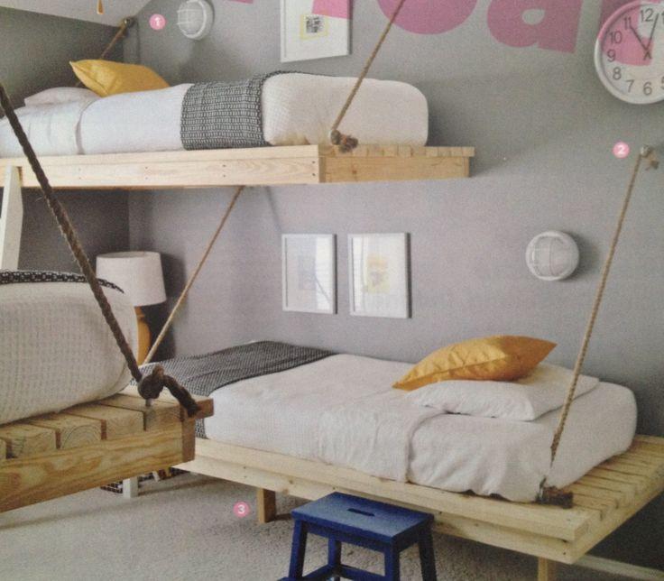 74 best images about diy on pinterest emo emo girls and for Floating loft bed designs
