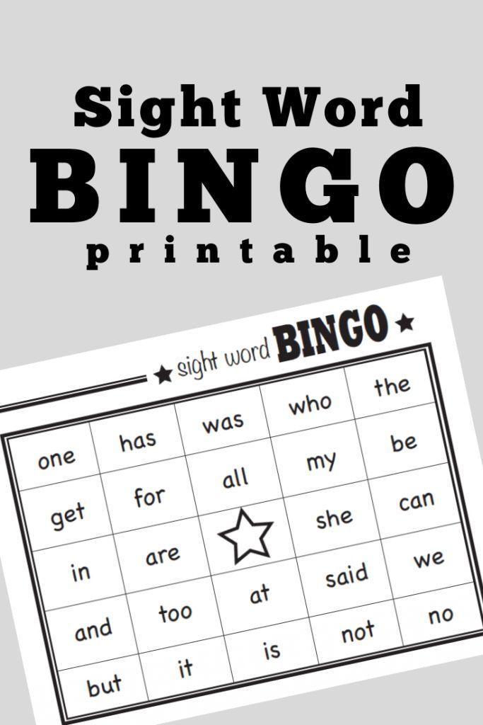 Sight Words Bingo Sight Words Kindergarten Word Bingo Sight Word Bingo