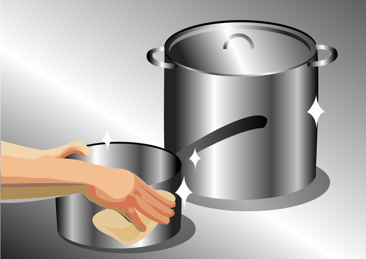 Cook away any serious burn marks. If the pan's burn marks cannot be scrubbed away with baking soda or soap, you can actually attempt to cook...