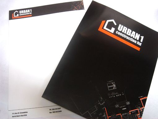 Design and layout of branded presentation/pocket folders http://www.designation.co.nz/