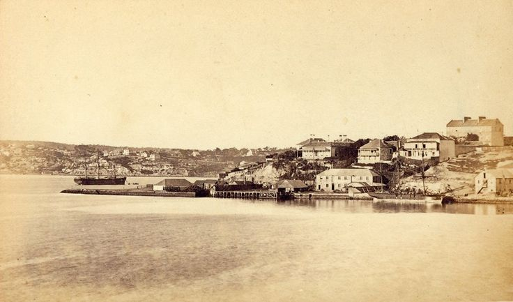 Millers Point from Balmain. 1869. Historic Houses Trust.